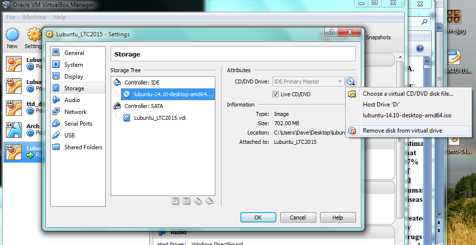 Setting up a Lubuntu virtual machine with virtual box [and